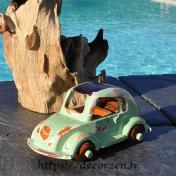 Coccinelle miniature en bois recyclé