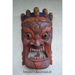 Masque Népalais Protecteur en bois