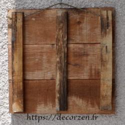 Tableau phrase humoristique peint à la main sur du bois recyclé pour une ambiance zen