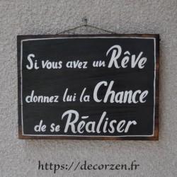 Tableau phrases peint à la main sur du bois recyclé, humour et bonne humeur