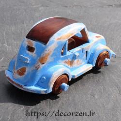 Cox miniature en bois recyclé faite main