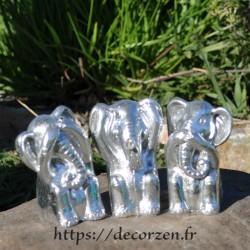 3 éléphants de la sagesse, je ne dis rien, je ne sais, rien, je ne vois rien, je n'entend rien; typique des adeptes de Buddha