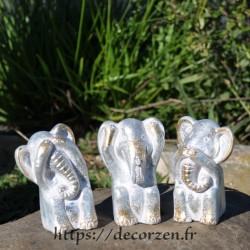 3 éléphants de la sagesse, je ne dis rien, je ne sais, rien, je n'entend rien, je n'entend rien