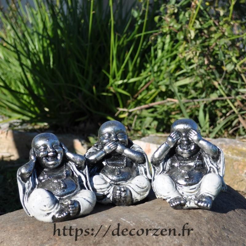 Bouddha de la sagesse, je ne dis rien, je ne sais, rien, je ne vois rien, je n'entend rien