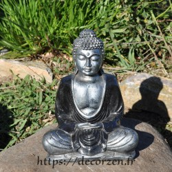 Statuette de Buddha, du Bouda, de Bouddha en résine peinte à la main