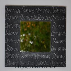Miroir amour love en carton recyclé