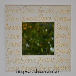 Miroir amour love en carton recyclé dur comme du bois