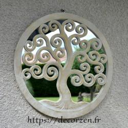 Miroir arbre de vie en carton recyclé