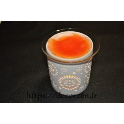 Coupelle en verre spécial résistant à la chaleur pour transformer votre photophore en diffuseur  de parfum