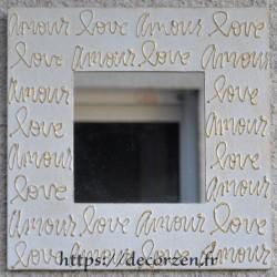 Miroir Amour Love  Taille L