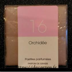 Huile naturelle de parfum de Grasse en tablette Orchidée