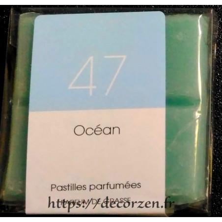 Huile naturelle de parfum de Grasse Océan en tablette