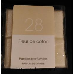 Huile de parfum de grasse naturelle et en tablette Fleur de coton