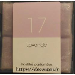Tablette d'huile naturelle de parfum de Grasse  Lavande