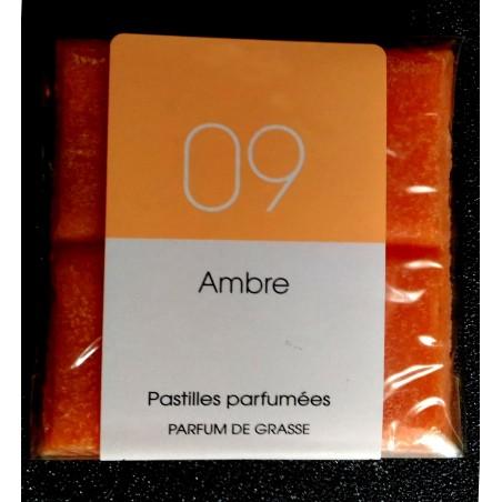 Tablette parfumée Ambre, parfum naturel de Grasse