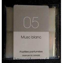 Tablette parfumée Musc Blanc, parfum naturel de Grasse