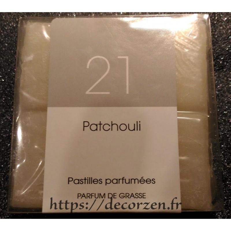 Tablette parfumée Patchouli, parfum naturel de Grasse