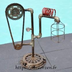 Corps de lampe en pièces détachées de vélo, de plomberie etc....