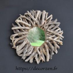 Miroir en bois flotté recyclé