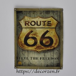 Cadre métal vintage Route 66
