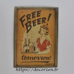 Cadre métal vintage Free Beer