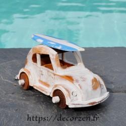 miniature coccinelle en bois recyclé