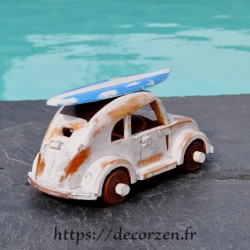 miniature beattle en bois recyclé